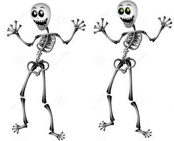 caricatura scheletro